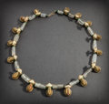 Pre-Columbian:Metal/Gold, TAIRONA NECKLACE WITH TWENTY-SIX GOLD FROGS...