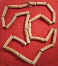 Pre-Columbian:Stone, A LARGE TAIRONA NECKLACE OF DEER BONE BEADS ...