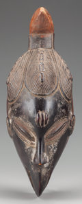 Tribal Art, GURO MASK. (COTE D'IVOIRE, WESTERN AFRICA). ...