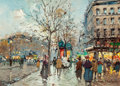 Paintings, ANTOINE BLANCHARD (French, 1910-1988). Boulevard Haussmann, Paris. Oil on canvas. 13 x 18 inches (33.0 x 45.7 cm). Signe...