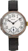 Timepieces:Wristwatch, Rolex Early Sterling Wristwatch, circa 1920's. ...
