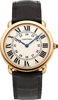 Timepieces:Wristwatch, Cartier Ref. 2889 Rose Gold Méchanique Gent's Wristwatch. ...