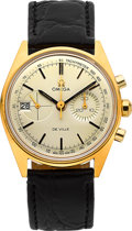 Timepieces:Wristwatch, Omega Rare & Very Fine Ref. 146.017 De Ville Chronograph With Date, circa 1970. ...