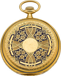 Longines 18k Gold & Enamel Pocket Watch, circa 1910