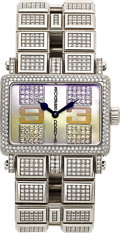 Timepieces:Wristwatch, Roger Dubuis Too Much Lady's Very Fine White Gold, Diamond &Mother-Of-Pearl Bracelet Watch, No. 067/888. ...