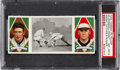 Baseball Cards:Singles (Pre-1930), 1912 T202 Hassan Knight Catches A Runner Johnson/Knight PSANM-MT 8 - Pop Two, None Higher! ...