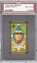 Baseball Cards:Singles (Pre-1930), 1911 T205 Piedmont Barney Pelty PSA NM-MT 8 - Finest Example! ...