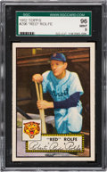 Baseball Cards:Singles (1950-1959), 1952 Topps Red Rolfe #296 SGC 96 Mint 9 - Pop One, Finest SGCExample! ...