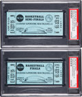Basketball Collectibles:Others, 1982 NCAA Semi-Finals and Championship Full Tickets - Michael Jordan Game Winning Shot - Both Graded by PSA....