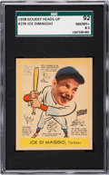 Baseball Cards:Singles (1930-1939), 1938 Goudey Joe DiMaggio #274 SGC 92 NM/MT+ 8.5 - Pop Two, None Higher! ...