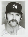 Autographs:Others, 1970's Thurman Munson Signed Photograph....
