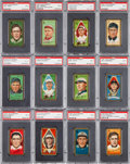 Baseball Cards:Lots, 1911 T205 Gold Borders PSA Collection (12) With Collins and ScarcePlayers/Variants. ...