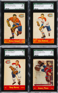 Hockey Cards:Lots, 1955 Parkhurst Hockey Collection (14) With Plante & Richard....