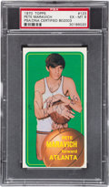 Autographs:Sports Cards, Signed 1970 Topps Pete Maravich #123 PSA EX-MT 6....