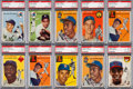 Baseball Cards:Lots, 1954 Topps Baseball Collection (690) With EX-MT 6 Aaron Rookie. ...