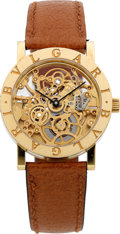 Timepieces:Wristwatch, Bulgari Ref. BB 33 GL SK Fine 18k Gold Skeletonized Automatic. ...