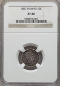 Coins of Hawaii: , 1883 10C Hawaii Ten Cents XF40 NGC. NGC Census: (42/299). PCGSPopulation (78/432). Mintage: 250,000. ...