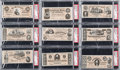 "Non-Sport Cards:Sets, 1962 Topps ""Civil War News"" Currency Complete Set (17) - #5 on thePSA Set Registry!..."