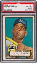 Baseball Cards:Singles (1950-1959), 1952 Topps Mickey Mantle #311 PSA NM-MT 8 (OC)....