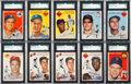 Baseball Cards:Lots, 1954 Topps Baseball SGC 84 NM 7 Collection (59). ...