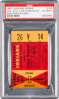 Baseball Collectibles:Tickets, 1957 Roger Maris First Game/Hit Ticket Stub, PSA Authentic. ...