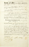 Autographs:Statesmen, Peter S. Du Ponceau, three partly-printed Documents Signed twice.... (Total: 3 Items)