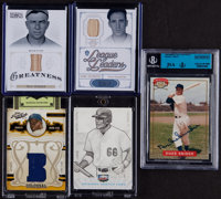 1990's - 2010's Jersey/Bat Card Group Lot with 1994 Nabisco Autograph (5)