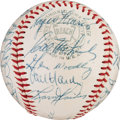 Baseball Collectibles:Balls, 1957 Cleveland Indians Team Signed Baseball with Roger Maris. ...