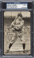 Autographs:Sports Cards, Signed 1926-29 Rogers Hornsby Exhibits Postcard Back PSA/DNA Mint9....