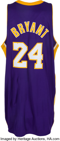 a0c09e38318 2007-08 Kobe Bryant Game Worn Los Angeles Lakers Jersey
