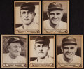 Baseball Cards:Lots, 1940 Play Ball Baseball Star Collection (5)....
