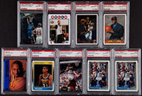 1980's-2000's Basketball PSA-Graded Collection (9)