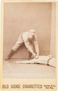 Baseball Cards:Singles (Pre-1930), 1888 N173 Old Judge Cabinet Tommy McCarthy, Tagging Player. ...