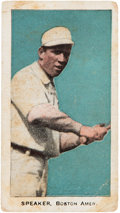 "Baseball Cards:Singles (Pre-1930), 1911 E94 Close Candy Tris Speaker ""Blome's Chocolate"" Overprint...."