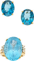 Estate Jewelry:Suites, Blue Topaz, Diamond, Gold Jewelry Suite, H. Stern. ... (Total: 2Items)