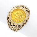 Estate Jewelry:Rings, Gentleman's Mexican Coin, Gold Ring. ...