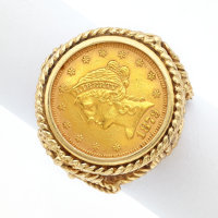 Liberty Gold Coin, Gold Ring