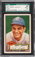 Baseball Cards:Singles (1950-1959), 1952 Topps Cookie Lavagetto #365 SGC 92 NM/MT+ 8.5 - Pop Two, NoneHigher. ...