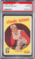 Baseball Cards:Singles (1950-1959), 1959 Topps Claude Osteen #224 PSA Gem Mint 10 - The Ultimate PSAExample! ...