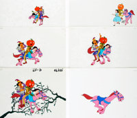 Group of Six Hand-Painted Animation Cels from the Feature-Length Movie Journey Back to Oz. One