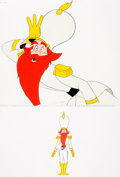 Books:Prints & Leaves, Pair of Original Hand-Painted Animation Cels from the Feature-Length Movie Journey Back to Oz. The 1971 movie featur...