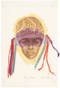 Fine Art - Work on Paper:Print, EMMA AMOS (American, b. 1938). Nadinola, Sepia, Tukula, and Paper Mask (four works). Lithographs in color with mixed-med... (Total: 4 Items)