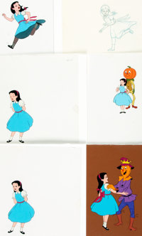 Group of Six Original Hand-Painted Animation Cels from the Feature-Length Movie Journey Back to Oz