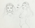 Animation Art:Production Drawing, Frank Frazetta Fire and Ice Princess Teegra Concept Art andMetal Hurlant Magazine (Ralph Bakshi Produ... (Total: 2Items)