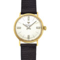 Timepieces:Wristwatch, Jules Jurgensen 14k Gold & Diamond Wristwatch. ...