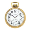 """Timepieces:Pocket (post 1900), Illinois 21 Jewels """"A. Lincoln"""" Open Face Pocket Watch. ..."""
