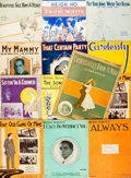 Books:Music & Sheet Music, [Irving Berlin] Group of Thirteen Musical Scores Either Written orPublished by Irving Berlin. Various dates. Original wrapp...