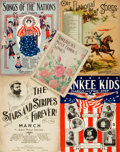 Books:Music & Sheet Music, [Music] Collection of Four Patriotic Songs. Various publishers anddates. America's Most Famous Songs is just the front ...