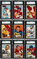Football Cards:Sets, 1952 Bowman Large Football Complete Set (144). ...