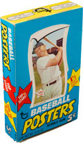 """Baseball Cards:Unopened Packs/Display Boxes, 1968 Topps """"Baseball Posters"""" 5-Cent Display Box With Mickey Mantle. ..."""